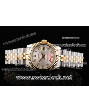 Rolex Datejust Jubilee Fluted Bezel TT Silver Concentric Dial Swiss ETA 2836 Numeral Markers RL11003