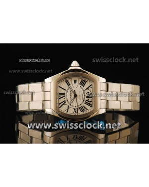 Cartier Roadster SS White Swiss ETA 2836 CA11100 | 1:1 Original