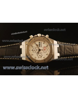 Audemars Piguet City of Sails SS White Asia 7750/4042 Black Cowhide AP11149