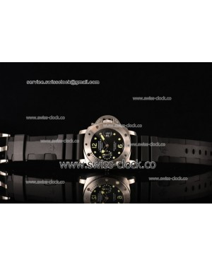 Panerai Luminor Submersible PAM 024 SS Black Dial on Black Rubber Strap A7750 201502034205 (H)