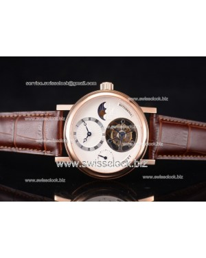 Breguet Grand Complication Moon Phase Tourbillon RG White Dial Swiss Tourbillon 201608017122