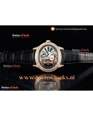 Audemars Piguet Millenary Rose Gold Skeleton Dial Miyota 9015 Automatic 201808296006