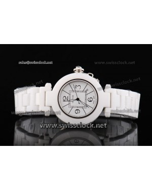Cartier Pasha White Ceramic Swiss ETA Quartz CA11096