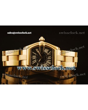 Cartier Roadster GMT YG Black Swiss ETA 2834-2 CA11170