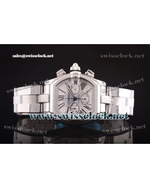 Cartier Roadster Chrono SS White Asia 7750/4144 CA11171 | 1:1 Original
