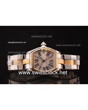 Cartier Roadster Two Tone Silver Swiss ETA 2892 2012061297064