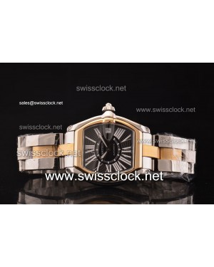 Cartier Roadster Two Tone Black Swiss ETA 2892 2012061297087