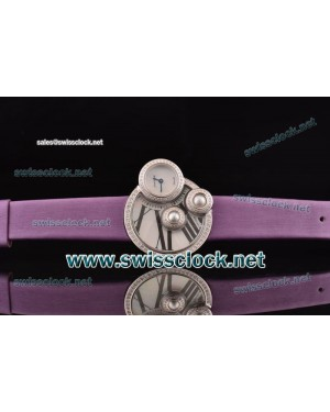 Cartier Perles de Cartier SS/Dia White MOP Swiss Quartz Purple Cowhide CA201301251643 | 1:1 Original