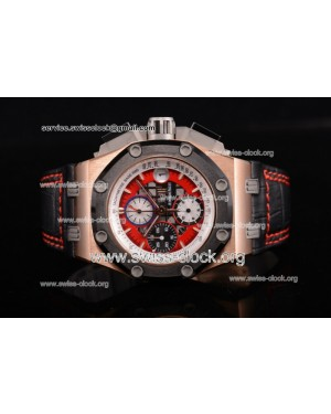 Audemars Piguet Royal Oak Offshore Rubens Barrichello Chronograph RG Red Skeleton Dial A7750 201512075981 | 1:1 Original (JF)