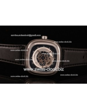 SevenFriday P1-01 SS Black/Silver Dial Auto 201604016703