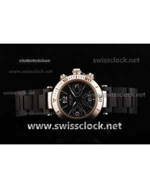 Cartier Pasha Chrono SS Black Asia 7750/503-F34 CA11089 | 1:1 Original